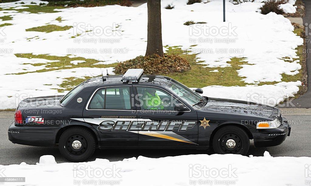 Suburban County Sheriff Police Car royalty-free stock photo
