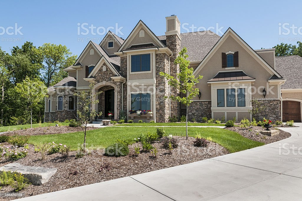 Suburban Home Exterior stock photo