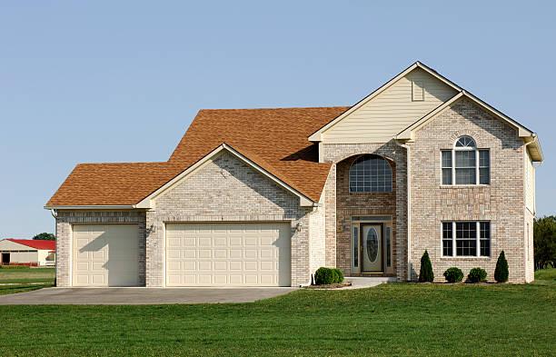 Suburban Home stock photo
