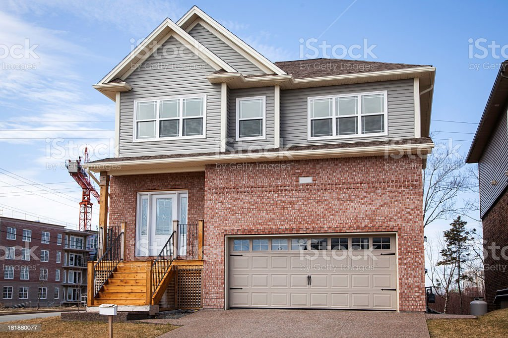 Suburban Home royalty-free stock photo