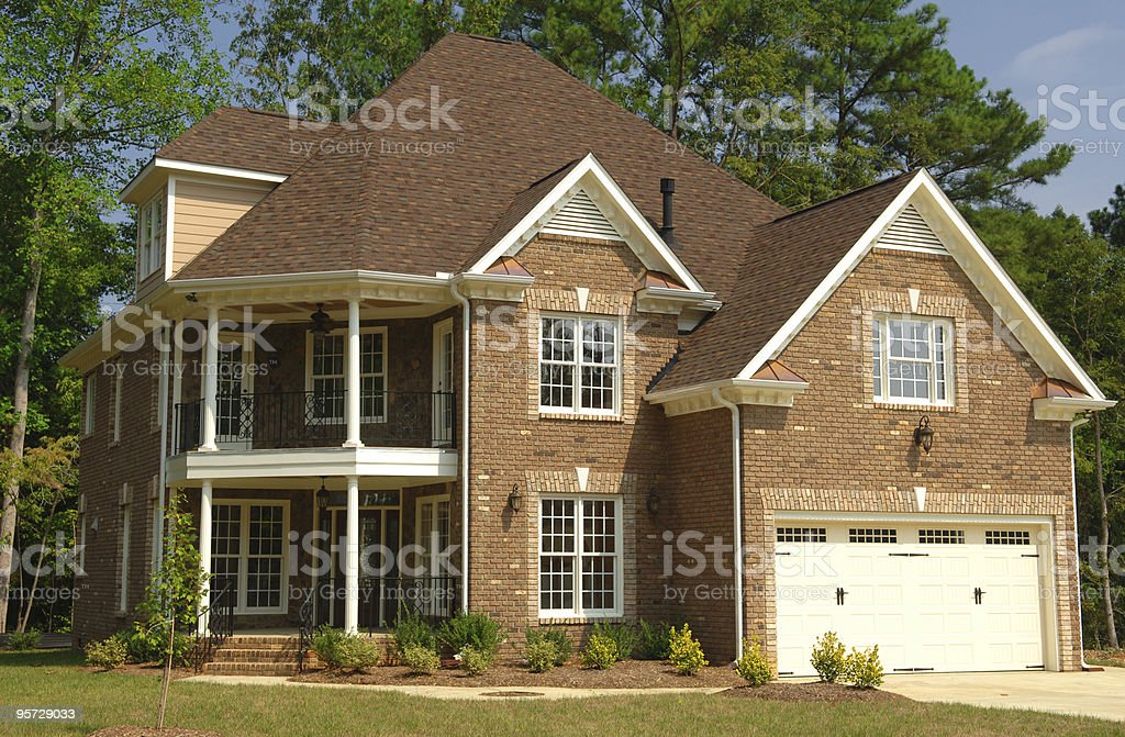 Suburban Home royalty-free stock photo