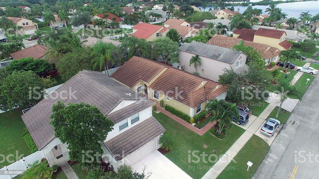 Suburban homes in Florida stock photo