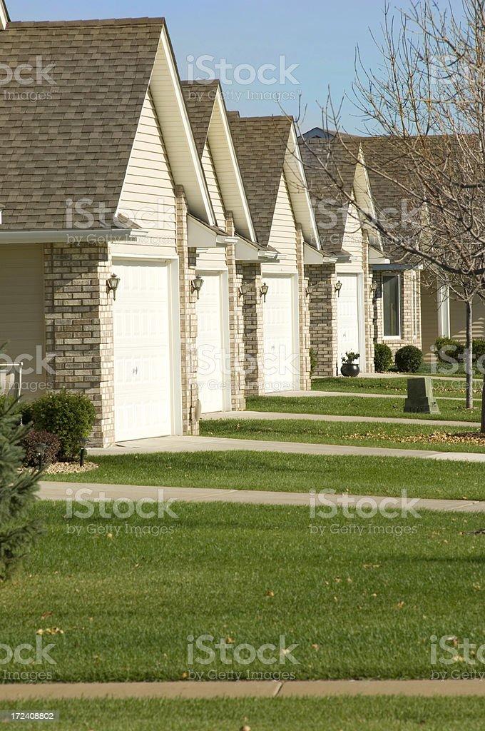suburban homes, Minnesota stock photo