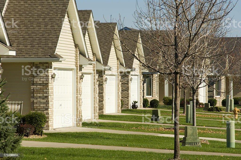 Suburban homes, Minnesota royalty-free stock photo