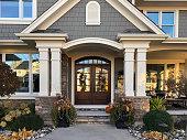House, Brick, Built Structure, Detached House, Front