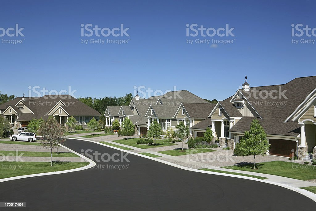 Suburban Houses royalty-free stock photo
