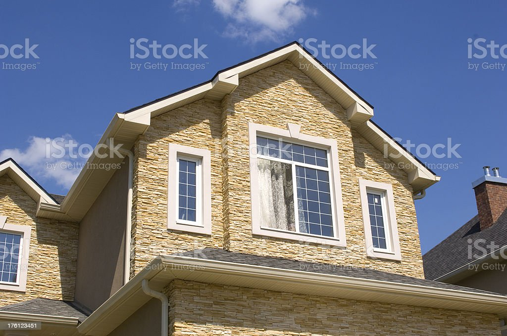 Suburban houses. royalty-free stock photo