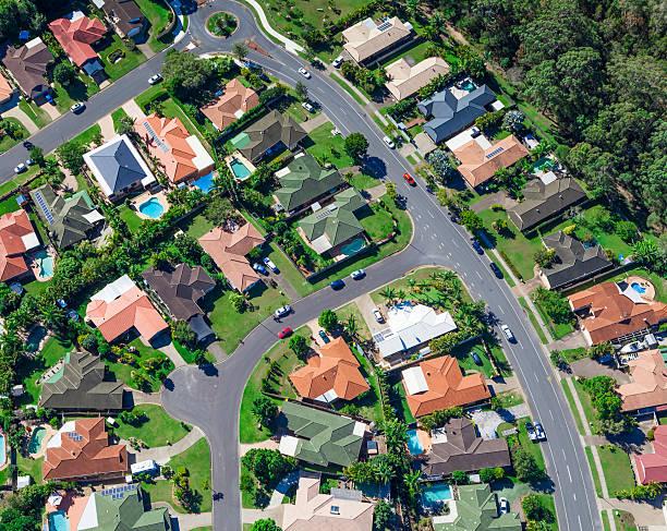 case suburbane - queensland foto e immagini stock