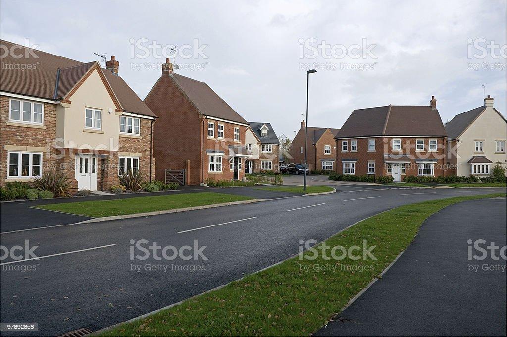 Suburban houses street royalty-free stock photo