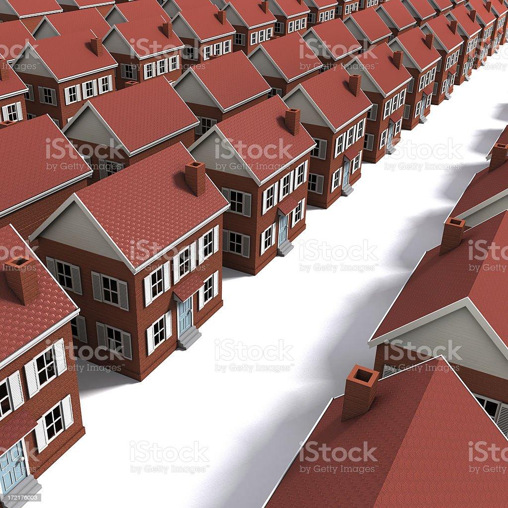 Suburban Housing Development royalty-free stock photo