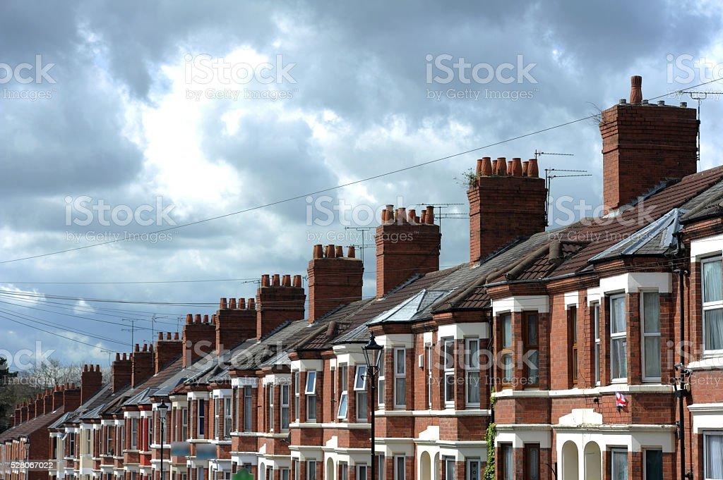 Suburban Housing-Stock Photo stock photo