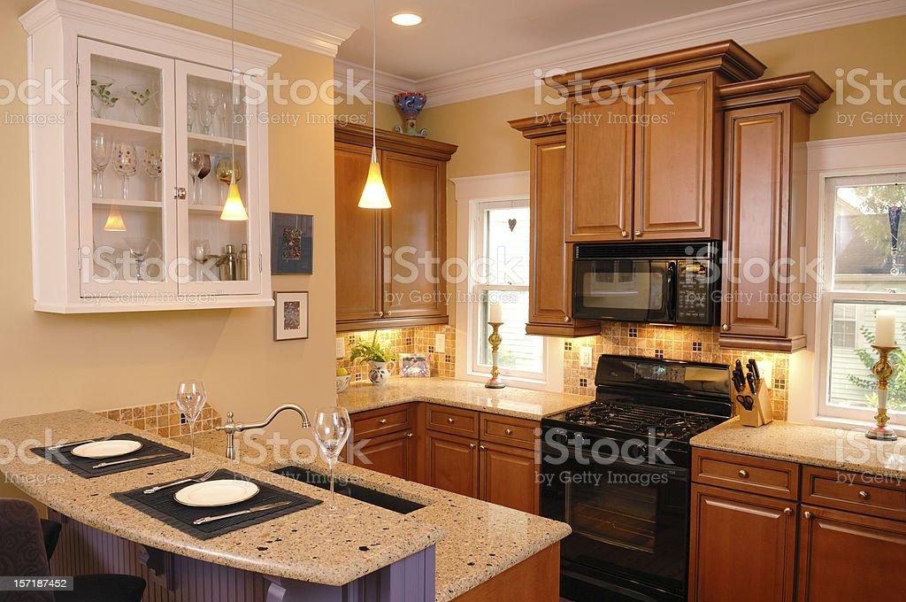 Suburban Kitchen royalty-free stock photo