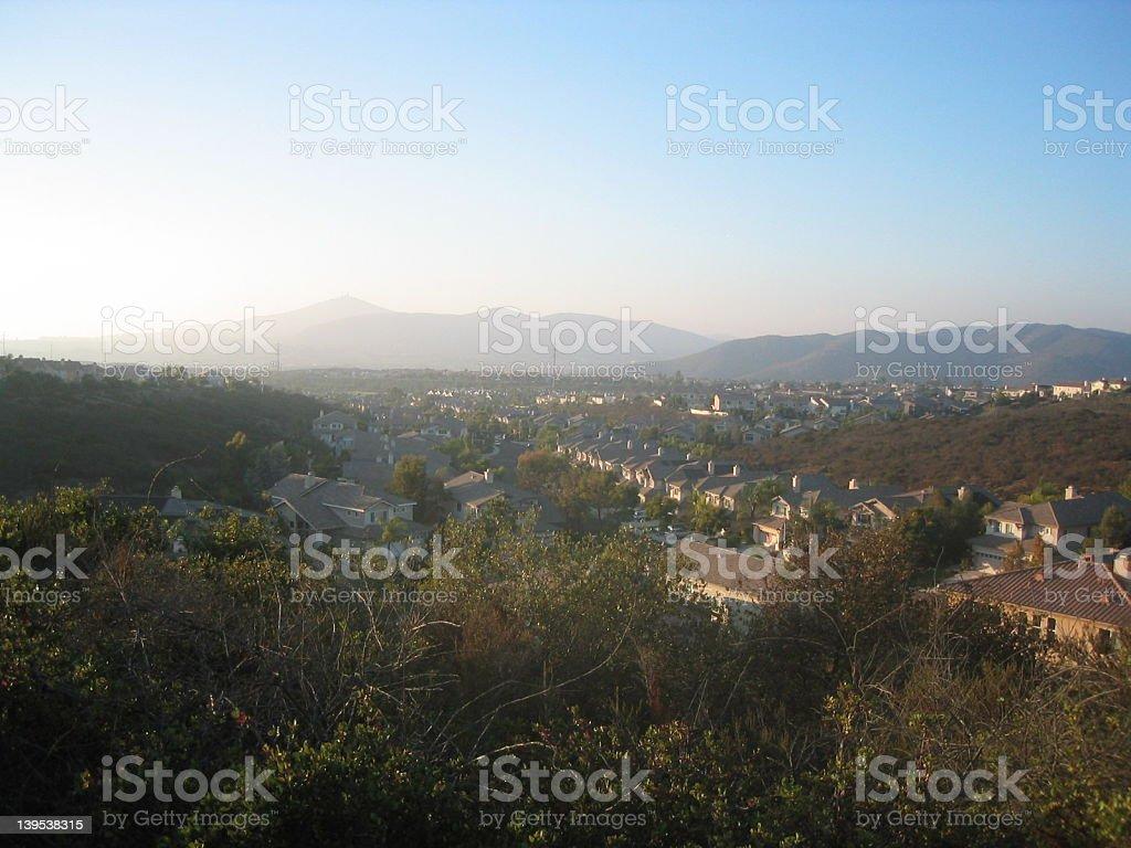 Suburban Landscape royalty-free stock photo
