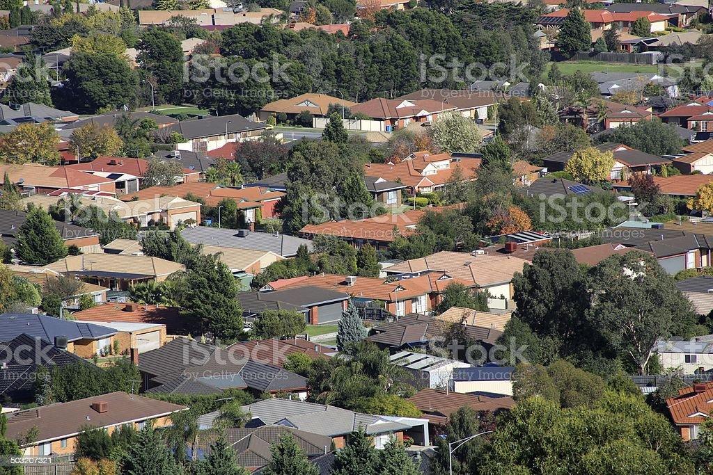 Suburban living stock photo