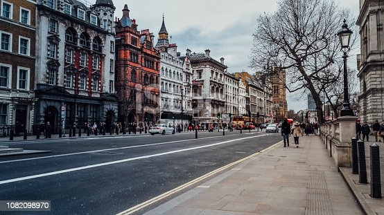 Sharp London street image with room for text