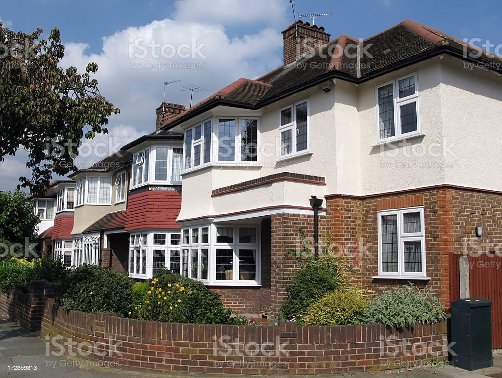 Suburban London royalty-free stock photo