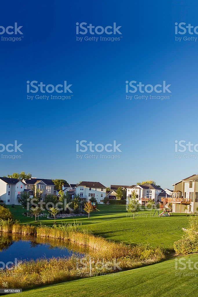 Suburban Morning royalty-free stock photo