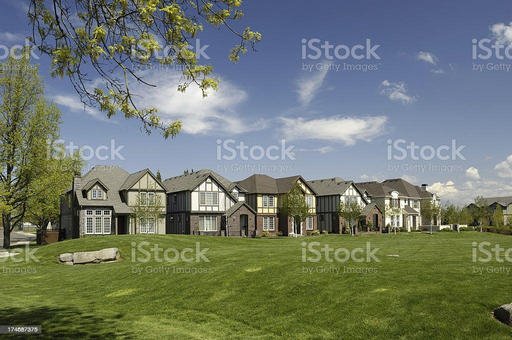 Suburban Neighborhood royalty-free stock photo