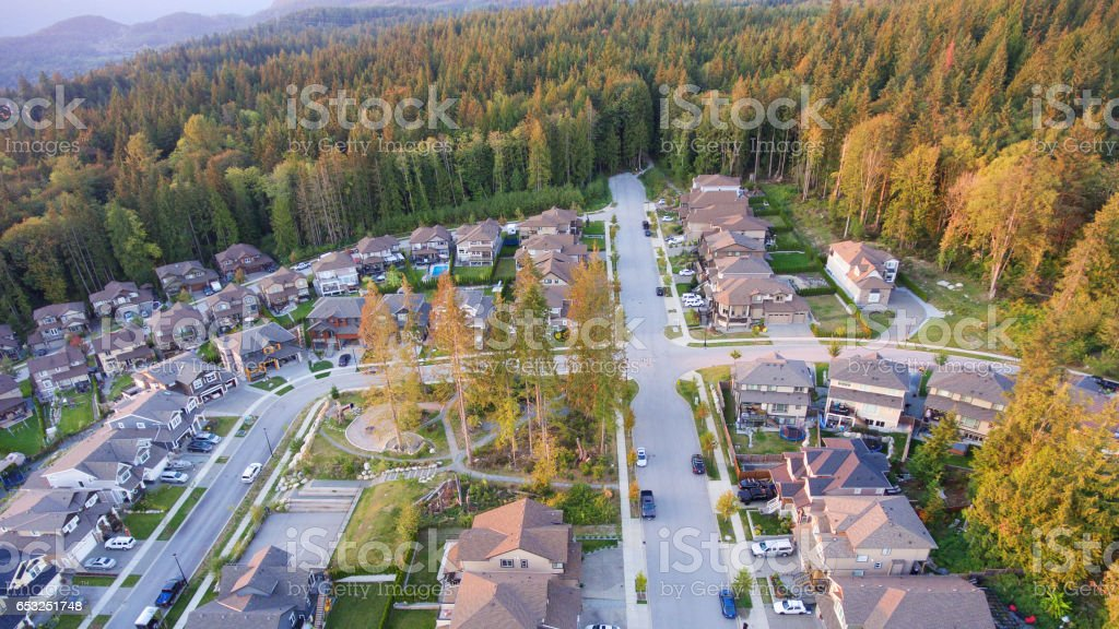 Suburban neighbourhood stock photo