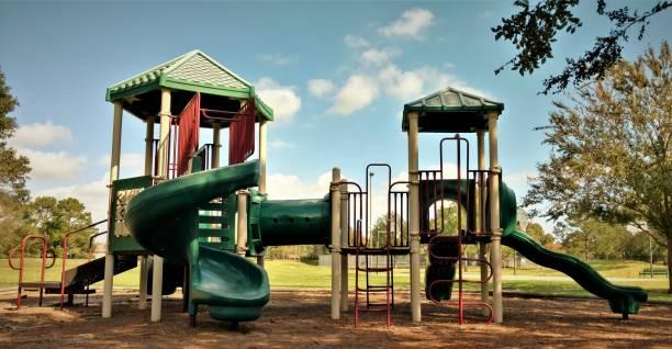 Suburban Park Playground Jungle Gym stock photo