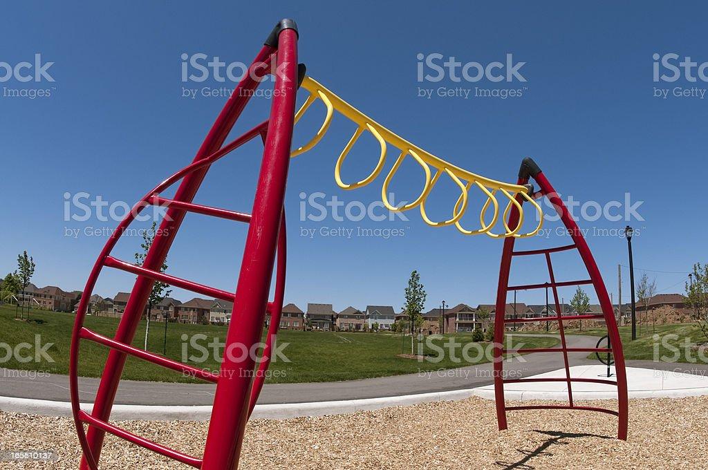Suburban Playground Monkeybars stock photo