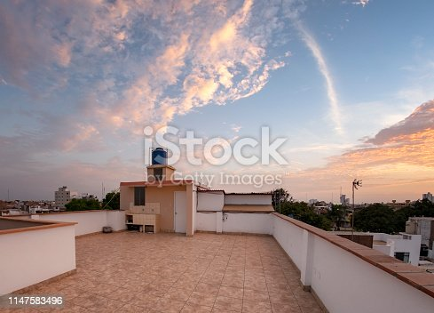 Suburban Rooftop View