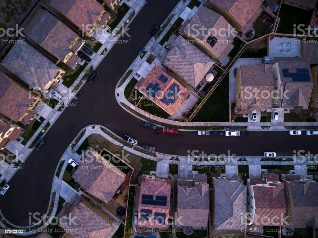 Suburban Rooftops royalty-free stock photo