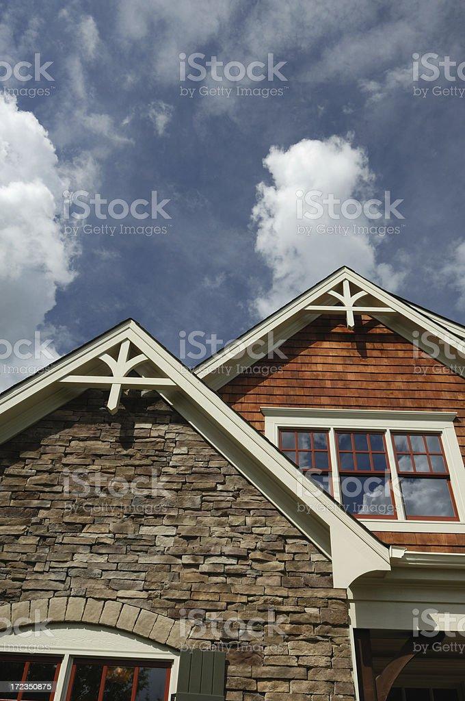 Suburban Skies stock photo