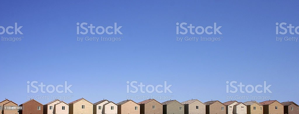 Suburban Sprawl in Las Vegas stock photo