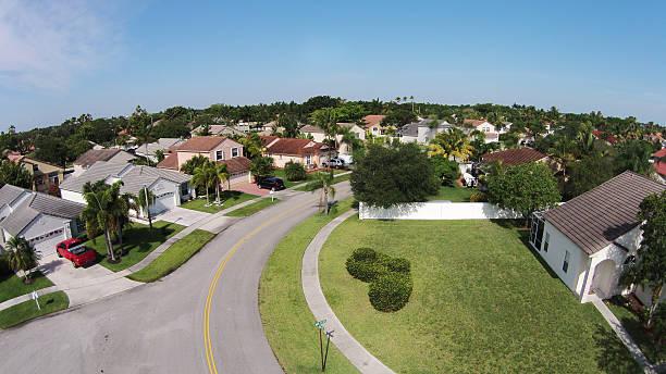 교외 street 공중 뷰 - 플로리다 미국 뉴스 사진 이미지