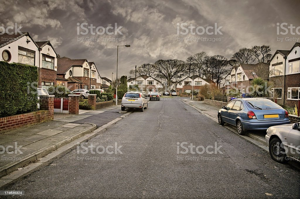 Suburban Street-Click for more royalty-free stock photo