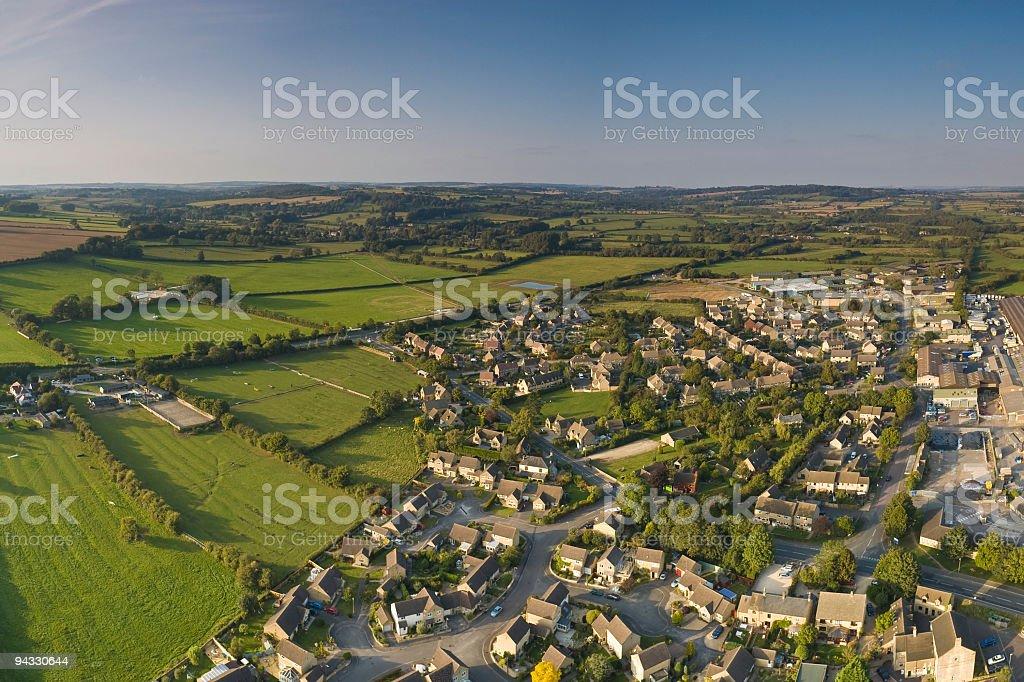 Suburban Straßen, farmland vista – Foto