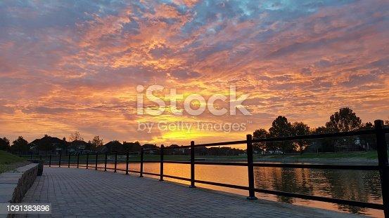 Sunrise over Richmond Texas, a suburban part of Houston Texas.