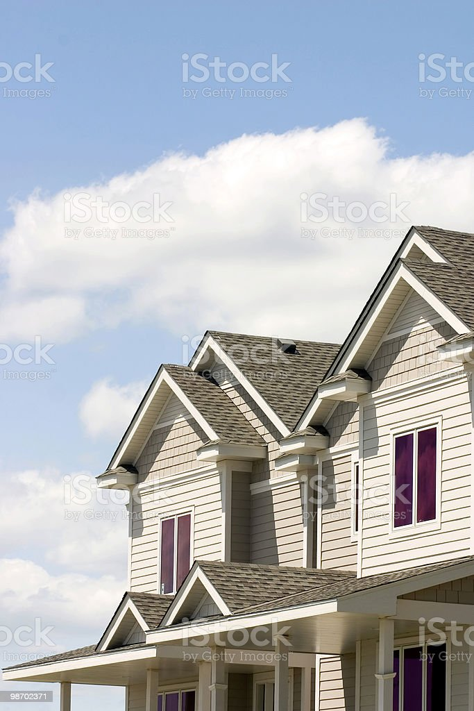 Suburban Townhouses royalty-free stock photo