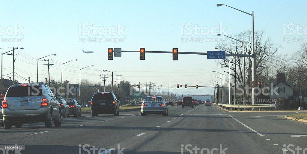 Suburban Traffic stock photo
