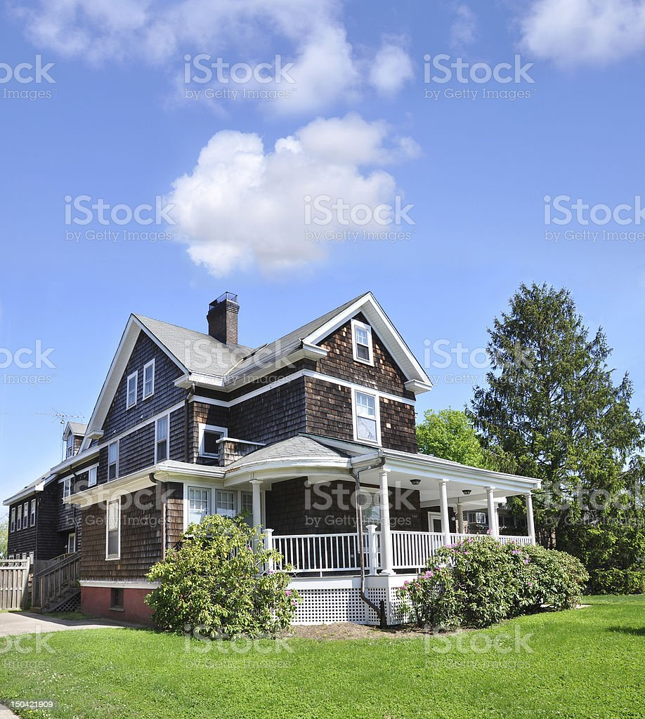 Suburban Victorian Home stock photo