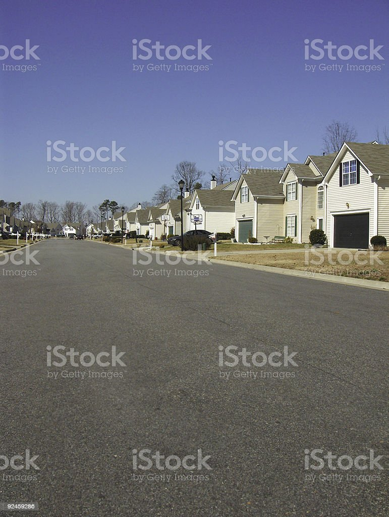 Suburbia - vertical royalty-free stock photo
