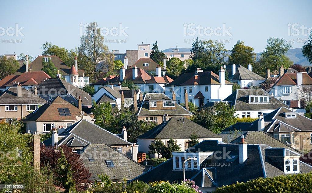Suburbian Houses royalty-free stock photo