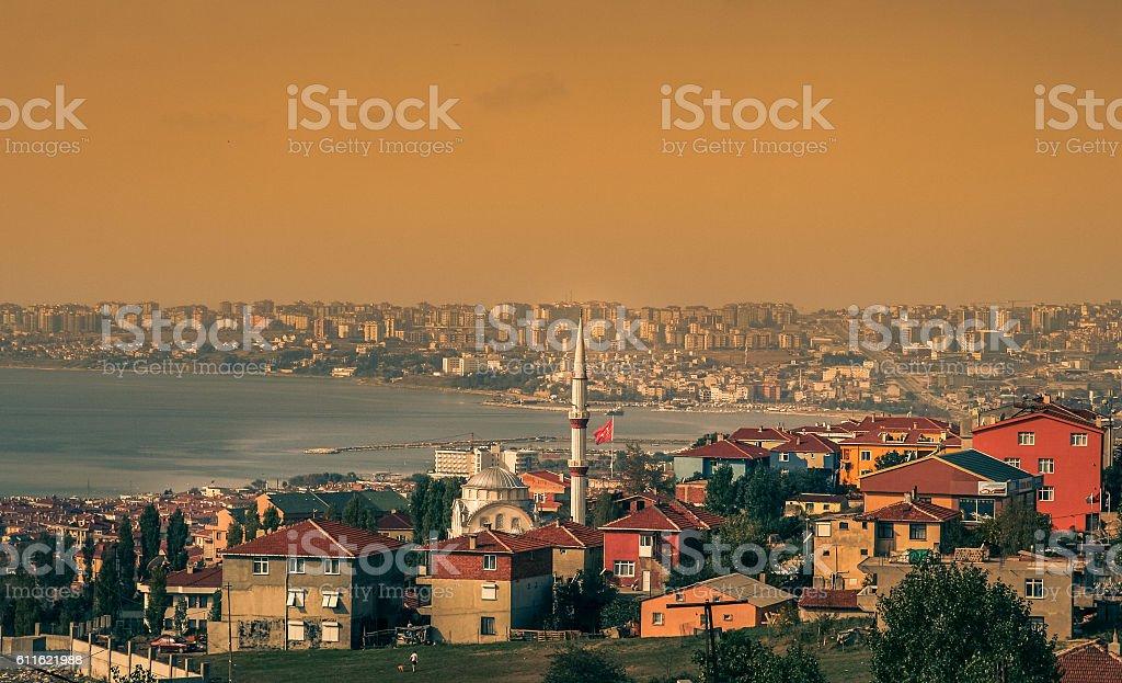 Suburbs of Istanbul stock photo