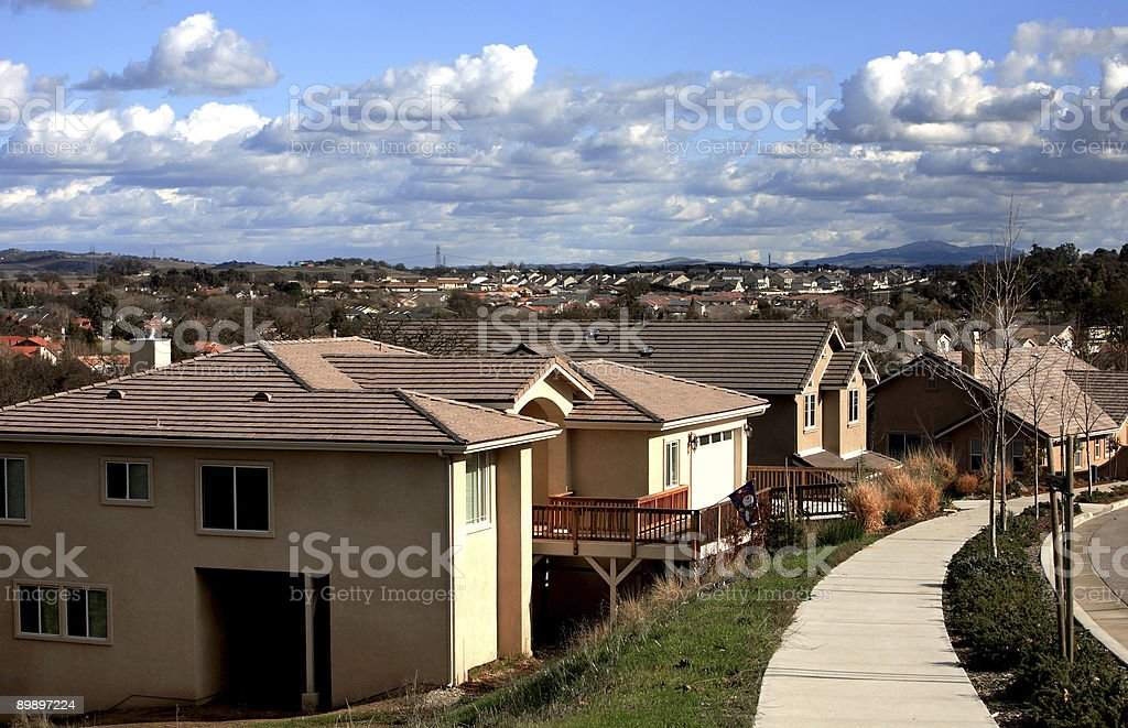 Suburbs royalty-free stock photo
