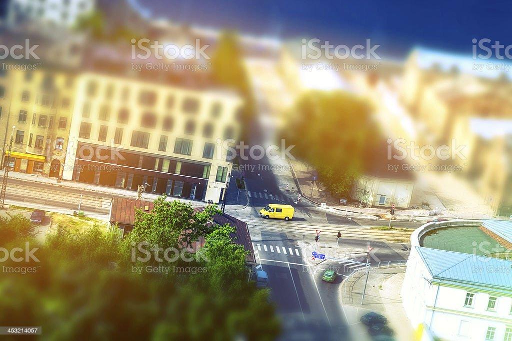 Suburbs streets stock photo