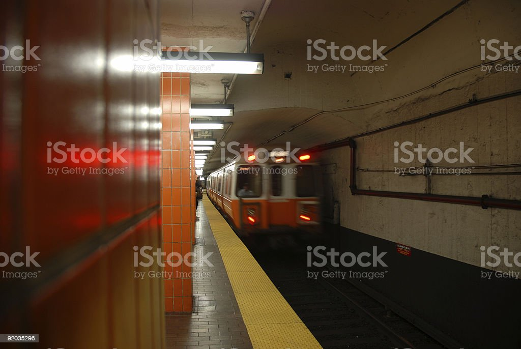 Subway Approaching 2 of 5 royalty-free stock photo