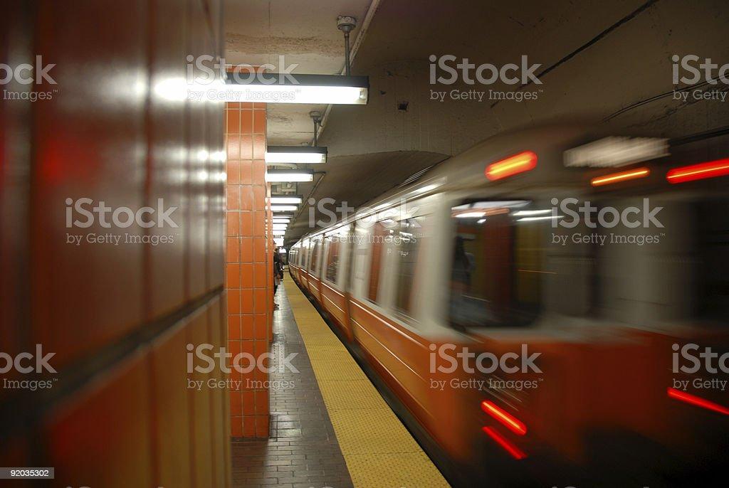 Subway Approaching 4 of 5 stock photo