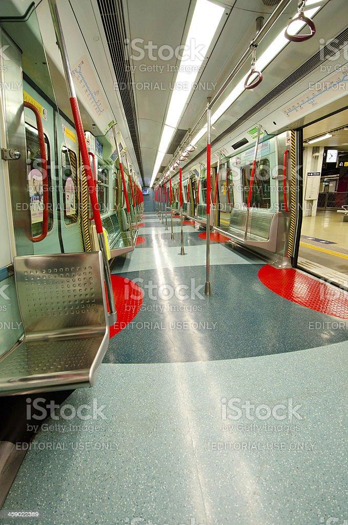 Subway Car - Hong Kong royalty-free stock photo