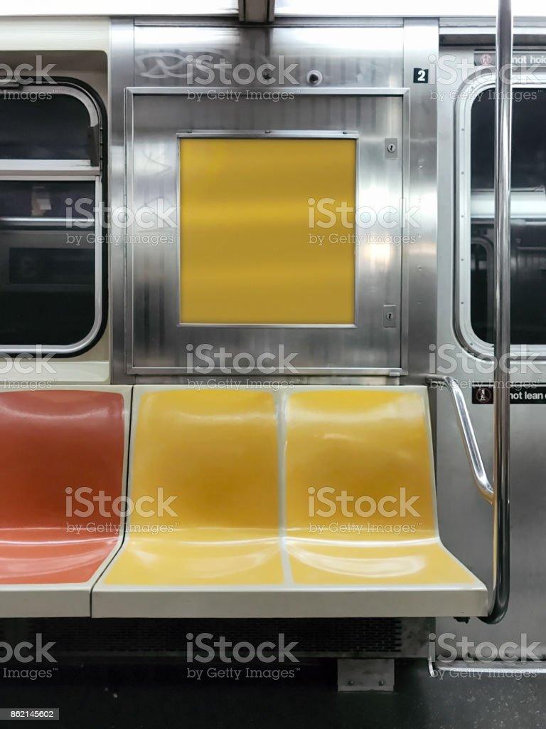 Subway car in New York stock photo