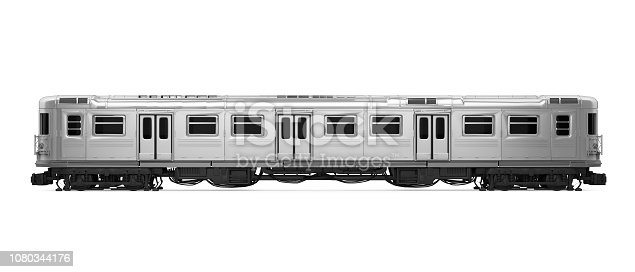 Subway Car isolated on white background. 3D render