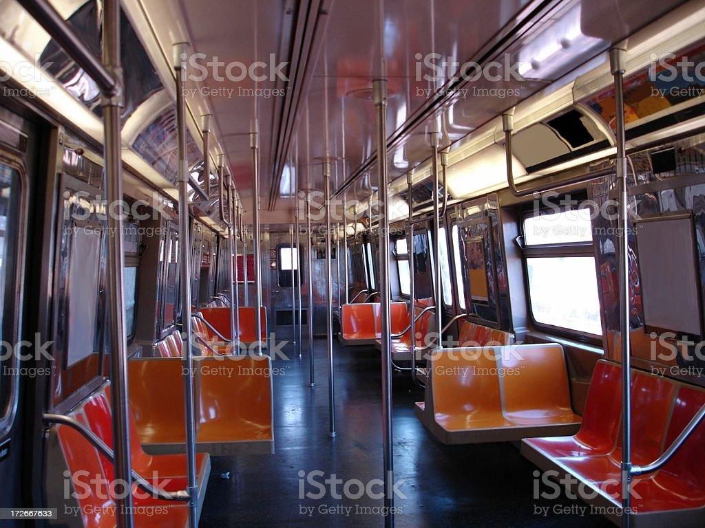 NYC Subway Car royalty-free stock photo