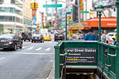 istock NYC Subway entrance on Canal Street in Manhattan New York City 1152881007