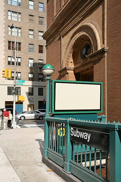 Subway Entrance On Corner Of 57th Street