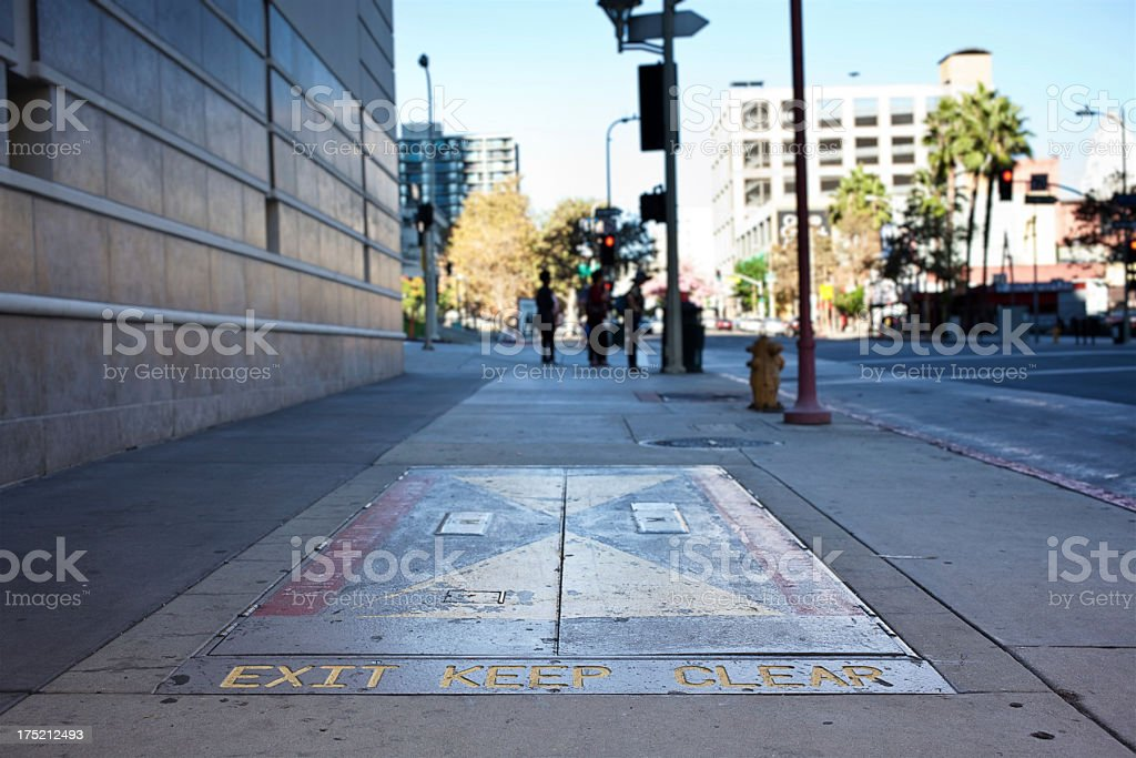 LA Subway Exit royalty-free stock photo